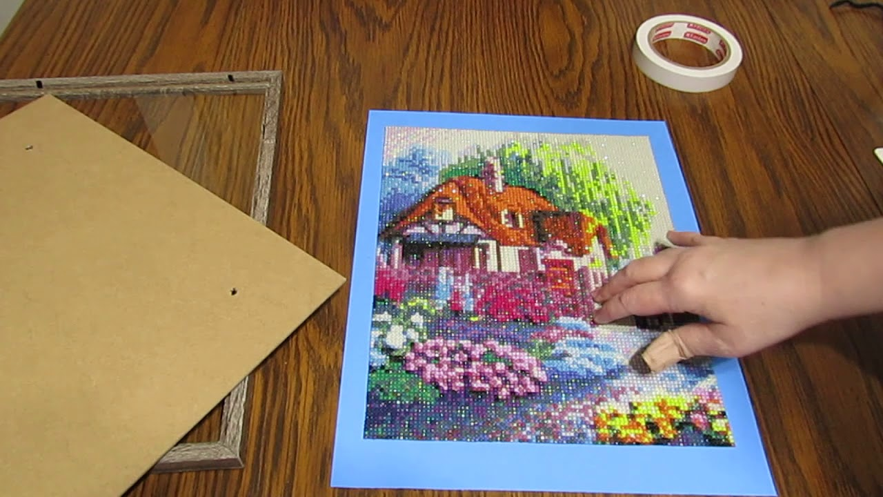 Framing A Diamond Painting Easy And Inexpensive Youtube