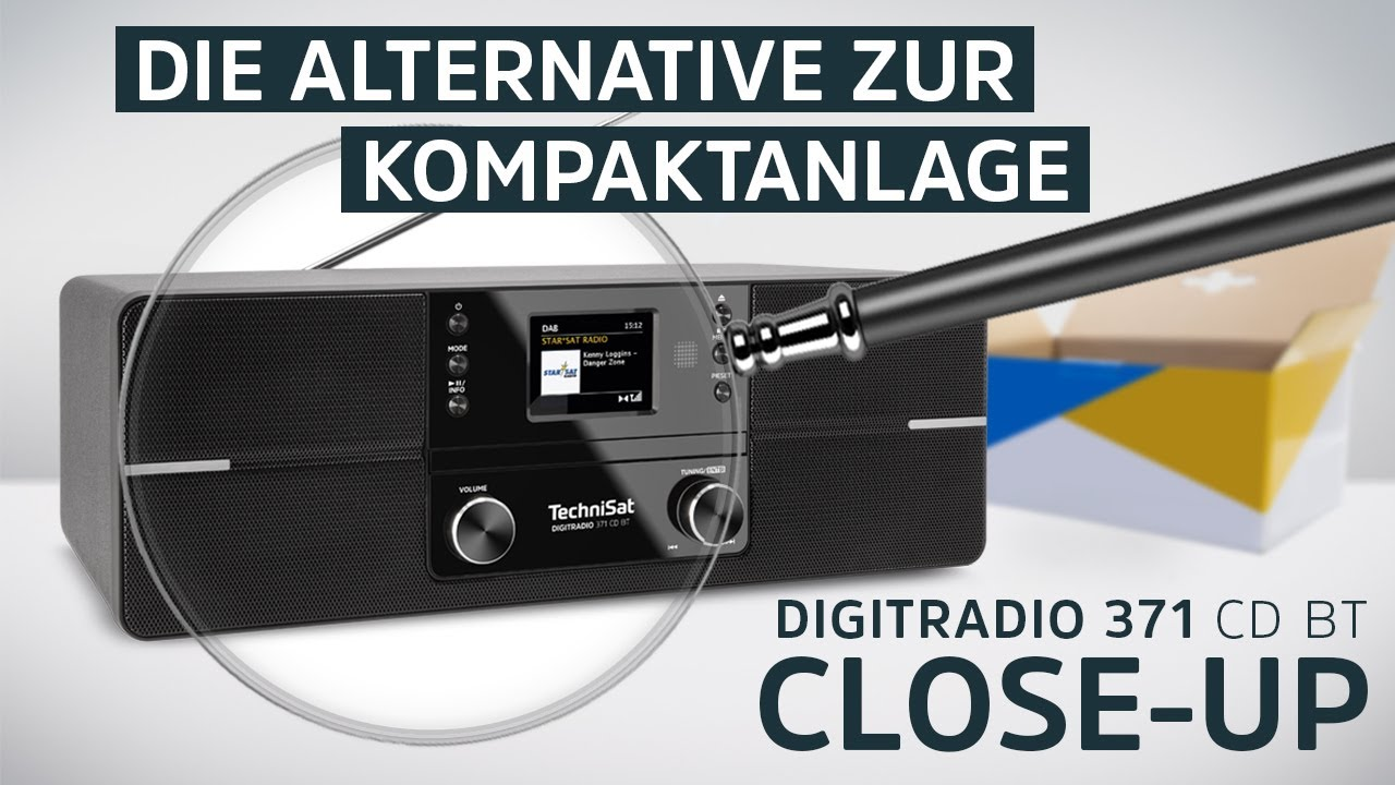 Video: Die Alternative zu Kompaktanlage  | DIGITRADIO 371 CD BT | TechniSat