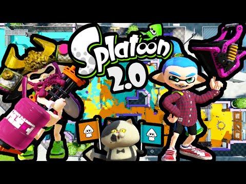 Splatoon Wii U 2.0 Update! Slosher & Heavy Splatling New Gear Squad Battles Online Gameplay PART 36