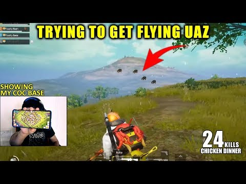 ITS NOT EASY TO KILL A FLYING HACKER | 24 KILLS AMAZING CHICKEN DINNER PUBG MOBILE HINDI