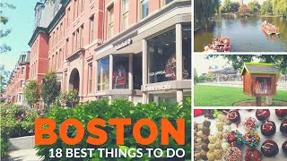 The 18 Best THINGS TO DO in BOSTON ♥