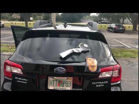 Russ Whip Rose - Browns fan recreates the Garrett/Rudolph hit on his car