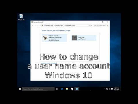 windows 7 how to change user account name