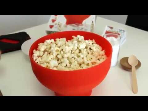 lekue popcorn skål