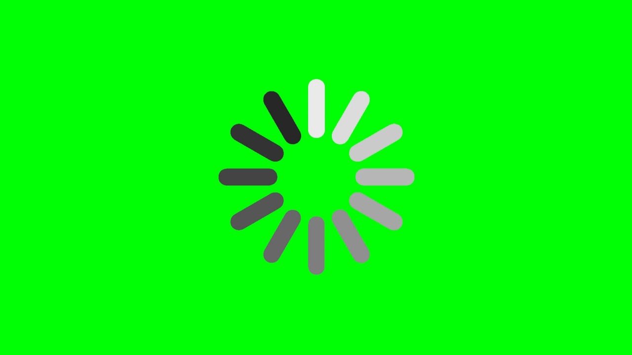 Loading Circle - Green Screen Footage Free Download