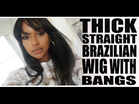 My Thick Straight Lace Wig with Bangs II WowAfrican