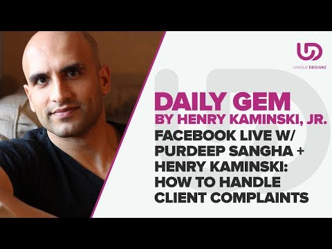 Facebook Live : How To Handle Client Complaints | The Brand Doctor | Unique Designz