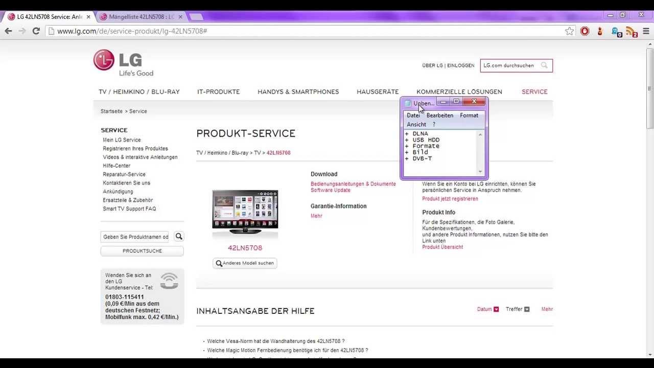 Ongekend LG 42LN5708 Erfahrungen & kleiner Testbericht - YouTube RH-56