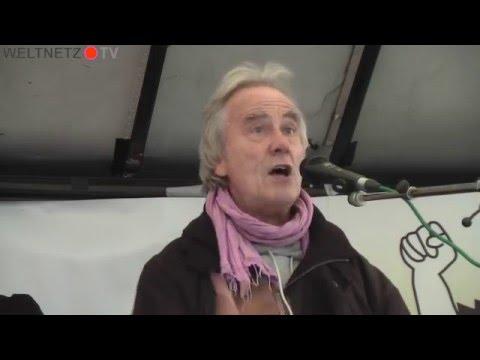Demo gegen NATO Sicherheitskonferenz München 2016: Reiner Braun - Beendet die NATO