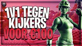 1V1 TEGEN KIJKERS VOOR €100 #1