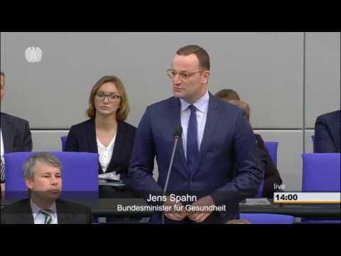 Gottfried Curio AfD befragt Jens Spahn CDU - Bundestag aktull