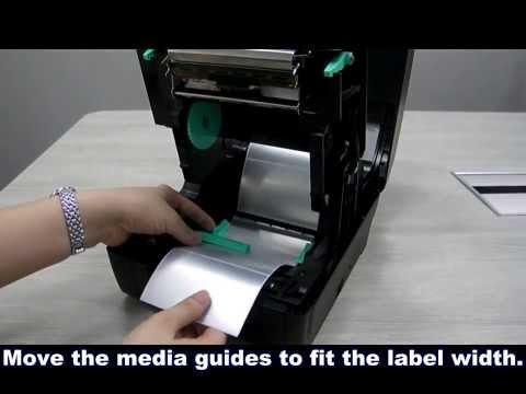 TSC TA200 ve TA300 Barkod Yazıcı Etiket takılması