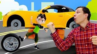 Бен 10 в видео онлайн - Бен Тен и Фёдор ремонтируют машины! – Новые игры в Автомастерской.