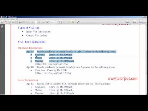 VAT Tax In Tally ERP9 Tamil Part-1