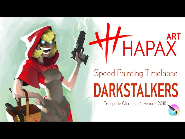 Speed Painting Timelapse | Baby Bonnie Hood from DarkStalkers (Trinquette Challenge November 2018 )