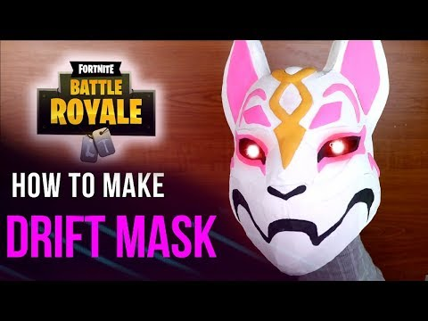 How To Make DRIFT Mask from FORTNITE - DIY Cardboard Crafts