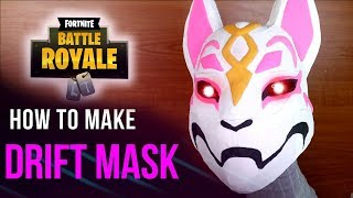 Comment faire le masque DRIFT de FORTNITE - BRICOLAGE Cardboard Crafts