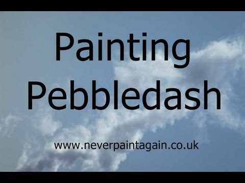 A Solution To Painting The Pebbledash Walls Of Your House