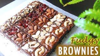 Brownies : Fudgy Brownies บราวนี่เนื้อฟัดจ์หน้าฟิล์มรสเข้มข้น หวานน้อย