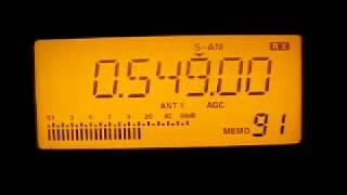 Radio Mayak 549 kHz. 20.5.2011.