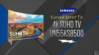 Samsung 55 SUHD 4K Curved LED Smart HDTV UN55KS8500FXZA - Overview