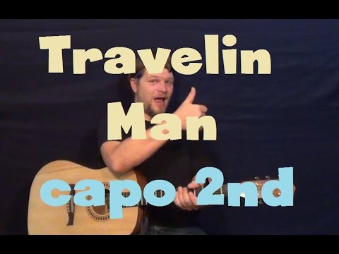 Travelin Man (Ricky Nelson) Easy Guitar Lesson Strum Chords How to Play Tutorial Capo 2nd