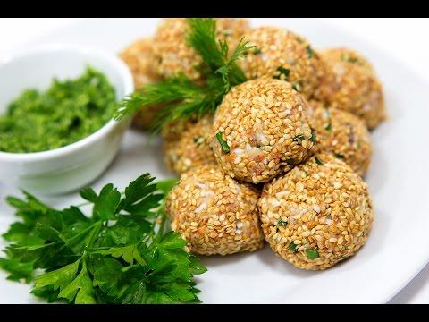 САЛАТНЫЕ ШАРИКИ МИМОЗА В КУНЖУТЕ \ Салат Мимоза рецепт \ Как приготовить салат мимоза