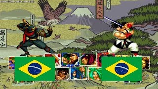 Samurai Shodown 2 Tjsilva22 (brazil) VS The Kahn (brazil) Fightcade