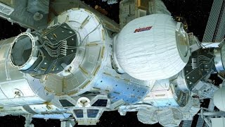 Inflatable room in space