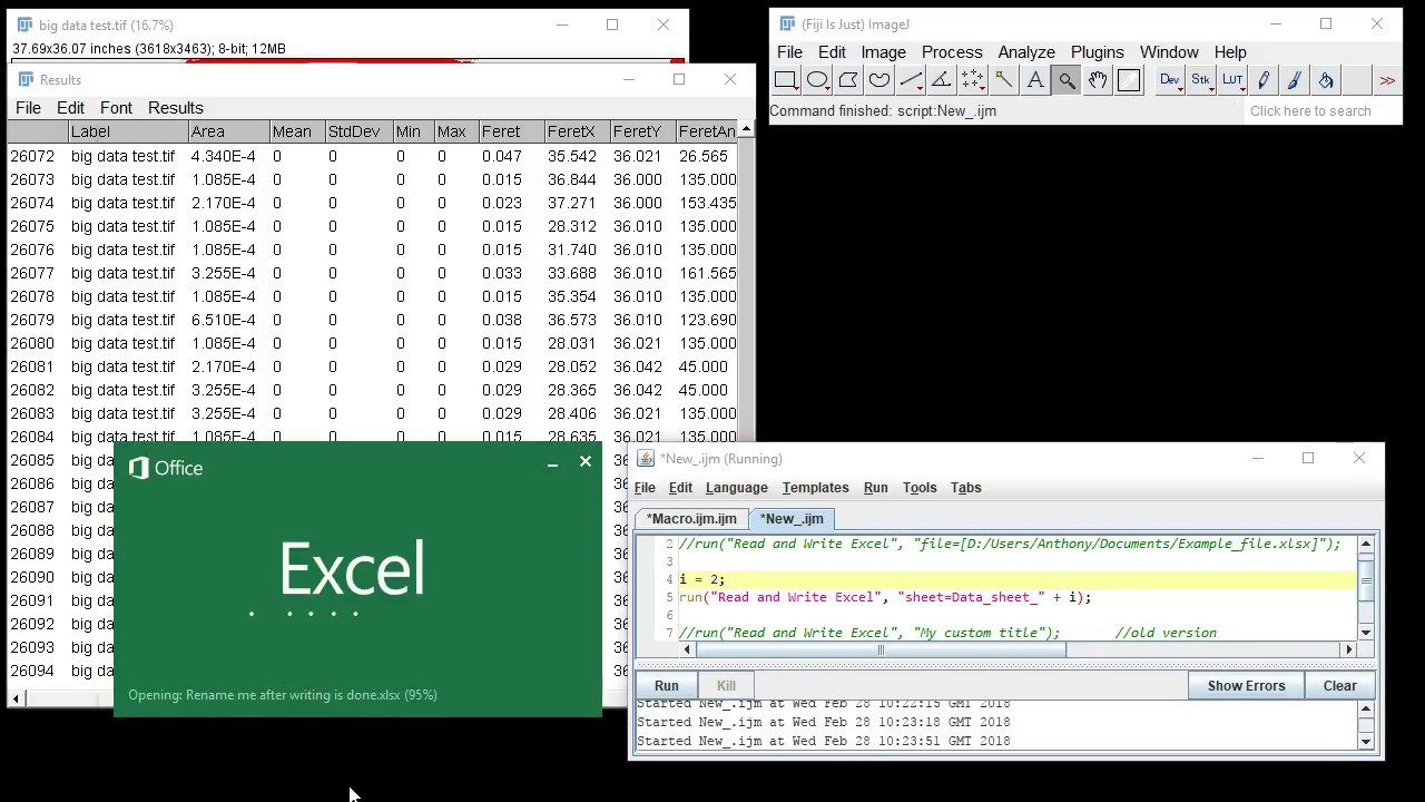 Read and Write Excel Plugin for ImageJ (new version)