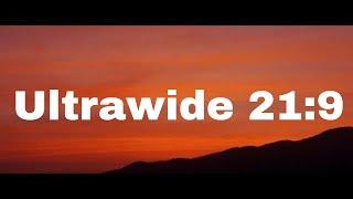 Ultrawide Sunset Nature Video Screensaver 4K UHD or HD