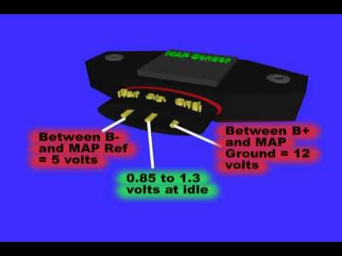 John Deere B Wiring Harness Map Or Manifold Air Pressure Sensor Youtube