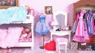 Barbie Morning Routine du Matin Elsa Raiponce Lits Superposés Chambre Salle de Bains