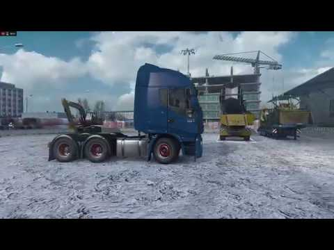 In sfarsit a venit iarna - Euro Truck Simulator 2 - Frosty Winter Weather Mod - Promods 2.25