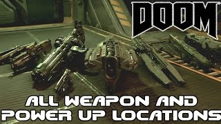 DOOM - All Singleplayer Weapons And Power-Up Locations
