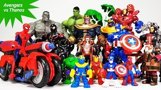 The Avengers vs Thanos Battle~! Iron Man. Spider Man, Hulk, Captain America, Ben 10 Toys Play