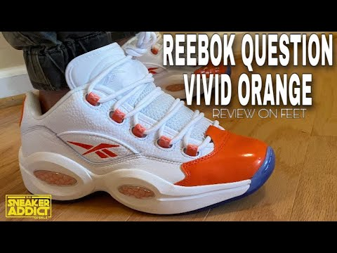 Reebok Question Vivid Orange Iverson Low Sneaker On Feet Review With Sizing Youtube