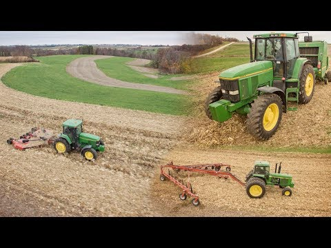 Cut, Rake, Bale, Repeat - Farming In 4K