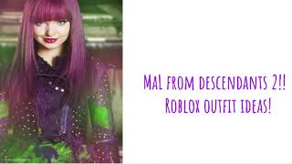Mal From Descendants 2||Roblox Outfit Ideas Part #6