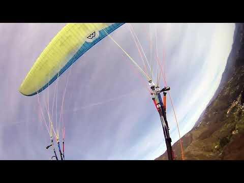 PRAGLIA GE paragliding Antonio La Manna Pini planata Scorticata 09 MAR 2017