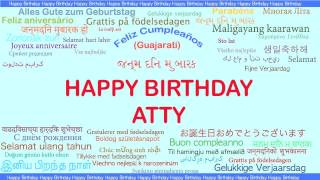 Atty   Languages Idiomas - Happy Birthday