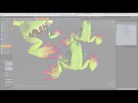 MODO 10 Quick Clip -- Mesh Paint Enhancement