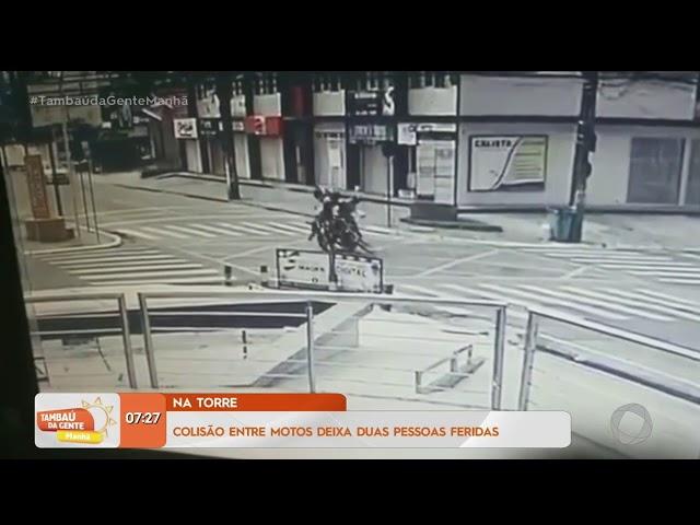 Tambaú da Gente Manhã - Colisão entre motos deixa duas pessoas feridas no bairro da Torre