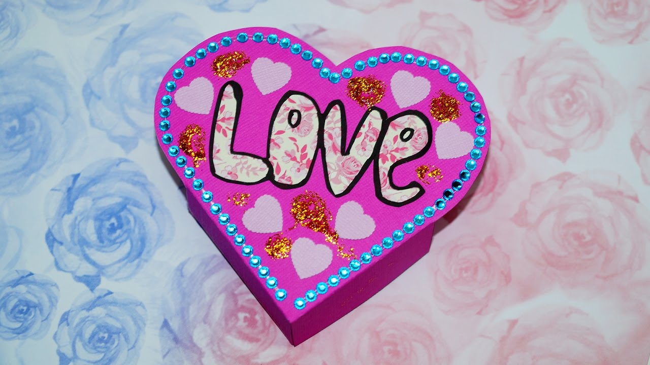Heart Box Making DIY Paper Crafts