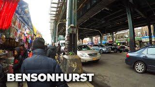 ⁴ᴷ Walking Tour of Bensonhurst, Brooklyn, NYC - 86th Street from 18th Avenue to Stillwell Avenue