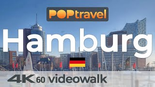Walking in HAMBURG / Germany - Central City - 4K 60fps (UHD)