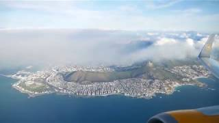 This is the amazing take off with a boeing 767-300 by german airline condor in cape town, south africa, 2017. it's business class seat, view to th...
