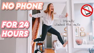 NO PHONE for 24 hours challenge in quarantine !! (i literally climbed the walls)