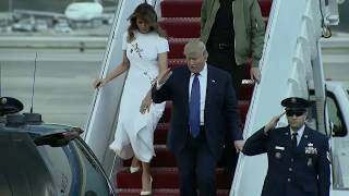 GUESS WHO'S BACK: Trump arrives in Flor...