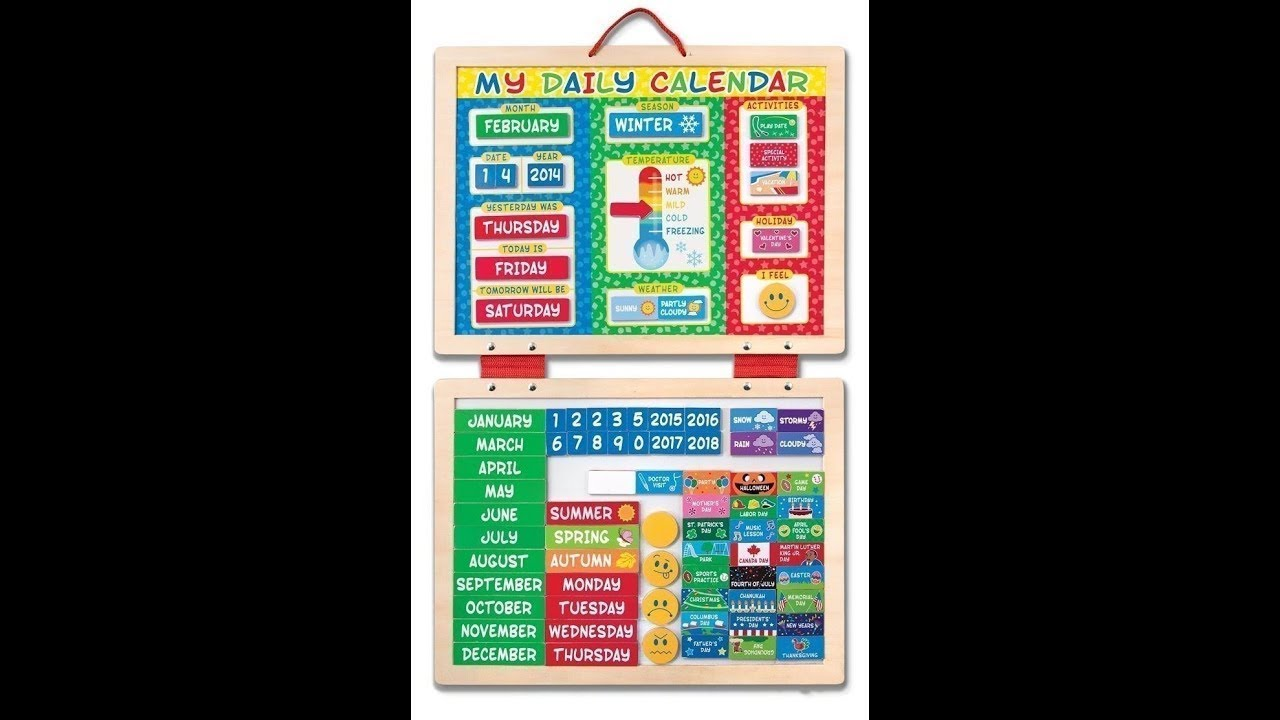 Melissa Doug My First Daily Magnetic Calendar Review Overview